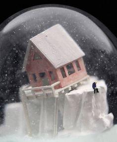 Snow globe art.