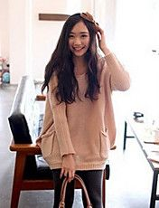 Kvinnors Button Pocket Sweater – NOK kr. 167