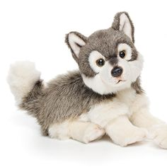 Nat and Jules Wolf Plush Toy, Small - Most Wanted Christmas Toys Jungle Animals, Plush Animals, Baby Animals, Cute Animals, Wolf Stuffed Animal, Cute Stuffed Animals, Wolf Sitting, Wolf Plush, Largest Wolf
