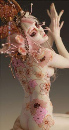 Floral Tattoo Geisha II Pin Up by Nicole West | eBay