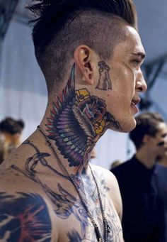 125 Top Neck Tattoo Designs This Year - Wild Tattoo Art Tattoo neck tattoos Tattoo Cou, Hai Tattoo, Wild Tattoo, Tattoo Hals, Get A Tattoo, Full Neck Tattoos, Neck Tattoo For Guys, Back Of Neck Tattoo, Cool Tattoos For Guys
