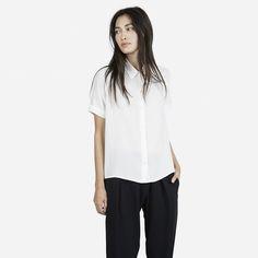 The Silk Short Sleeve - White - Everlane
