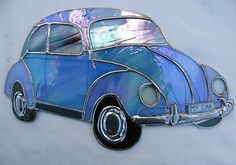 Stained glass VW Beetle bug