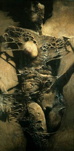 History of Art: Zdzislaw Beksinski/// (·)The heirs of Mort d'amour have the ability to break down and re-enter.