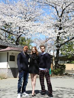 Jamie Foxx, Emma Stone and Andrew Garfield experience Japan's cherry blossoms in full bloom this Spring while promoting The Amazing #SpiderMan 2.