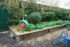 8 Talented Cool Ideas: Easy Backyard Garden How To Grow backyard garden inspiration flower beds.Easy Backyard Garden How To Grow. Small Backyard Gardens, Modern Backyard, Large Backyard, Kid Backyard, Tire Garden, Garden Sheds, Easy Garden, Sensory Garden, Sensory Play