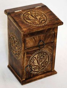This is one of my favorites on Wiccan Supplies, Witchcraft Supplies & Pagan Supplies Experts-Eclectic Artisans: Tree of Life Herb Cupboard