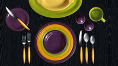 Fiesta dinner table celebrating Mardi Gras in New Orleans.