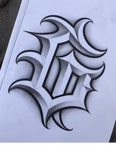 Tattoo Lettering Design, Gothic Lettering, Chicano Lettering, Tattoo Design Drawings, Outline Drawings, Cool Lettering, Graffiti Lettering, 3d Art Drawing, Graffiti Drawing