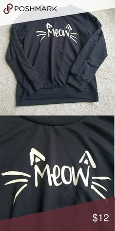 c98eae1846e Cat Sweatshirt Black cat pullover sweatshirt. Size medium. Tag was pulled  out. Jackets