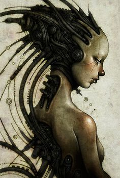 Arte Steampunk, Steampunk Artwork, Cyberpunk Girl, Arte Cyberpunk, Rennaissance Art, Cyborg Girl, Beautiful Dark Art, Hr Giger, Arte Horror