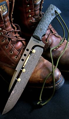 Damascus futuristic Fighter Fixed Knife Blade @thistookmymoney #tacticalknife