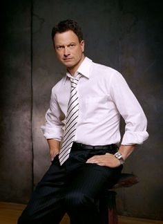 Gary Sinise was one of my first celebrity crushes, which sounds weird, but it's true. He's a great actor and a great person. He give so much back to our troops. He always seems to be coming from a positive and productive place as well.