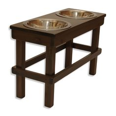 """Large (17"""" tall) Elevated Pet Feeder  #OFTOcares #OFTOpets"""