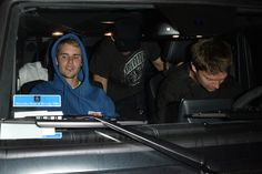 July 25: [More] Justin and Patrick Schwarzenegger leaving BOA Steakhouse in West Hollywood, CA. 