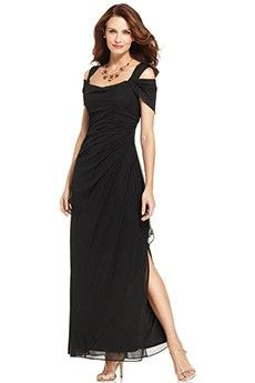Sheath/Column Off-the-shoulder Ankle-length Chiffon Mother of the Bride Dress