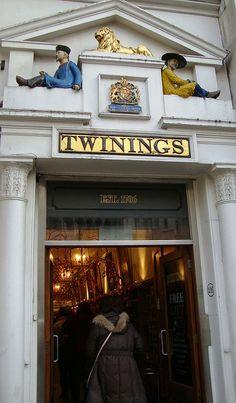 Twinings Tea Shop ar 216 The Strand. London, ENGLAND,   (by sandralawson on Flickr.)