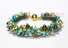 Tutorial - Cecilia Bracelet You will receive the PDF file, step by step instruction how to make this bracelet. This pattern is for intermediate beader with basic knowledge of beadweaving. But if youre a beginner and would like to try it, Im always happy to assist you if you have any difficulty with the pattern. Main techniques - Peyote - Fringe Materials for this bracelet. - 130 to 150 pcs. Glass or Plastic Pearl 4mm and 6 mm. - 10/0 or 11/0 Miyuki Delica seed beads - 11/0 ...