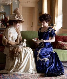 Frances O'Connor as Rose Selfridge and Katherine Kelly as Lady Mae Loxley in Mr Selfridge (TV Series, 2013). [x]