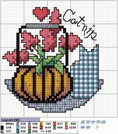 Cross-stitch Mason Jar Tops, part 9