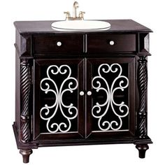 Mahogany Lexington Single Sink Bath Vanity | LampsPlus.com
