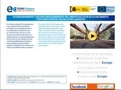 DIPTICO INTERACTIVO ACTUACIÓN FEDER Acondicionamiento y mejora medioambiental del Arroyo de Letur en su nacimiento y en Fuente Pataco (TM. Letur)  Pincha en el link: ftp://ftp.chsegura.es/FEDER/07F.CM.51.011.06.pdf
