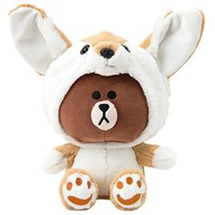 LINE FRIENDS Fox Brown Cuddle Doll Season 1 One Size Brown_White: [Item Features]/bbr / Crafted for durability, comfort, and delight. Plush Dolls, Doll Toys, Line Friends, Brown Bear, Cony Brown, Weird Facts, Crazy Facts, Plushies, Cuddling