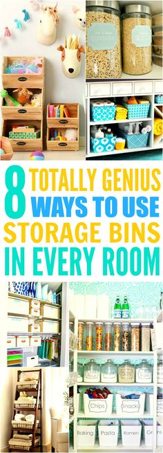 These 8 life changing storage bin hacks are THE BEST! I'm so glad I found these GREAT tips! Now I have some good ideas on how to organize my rooms! Definitely repinning for later!
