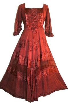 Agan Traders Wedding Evening Party Gothic Costume Peasant Renaissance Dress Gown