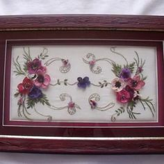 This Pin was discovered by sel Needle Lace, Ribbon Work, Quilling, Diy And Crafts, Projects To Try, Decorative Boxes, Cross Stitch, Tray, Embroidery
