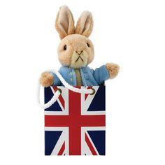 #Gund #SoftToy - #BeatrixPotter - #PeterRabbit in a #UnionJack Bag - A27398