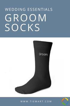 "The perfect wedding day socks for your groom. Black with white ""Groom"" embroidery. More styles available for your entire wedding party. Groom Socks, Groomsmen Socks, Groom And Groomsmen, Perfect Wedding, Dream Wedding, Wedding Day, Plan Your Wedding, Wedding Planning, Black And White Wedding Theme"