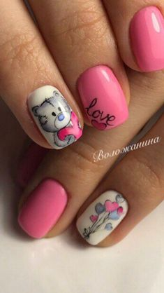 - - valentines day nailsOso - - valentines day nails Me gusta - 47 of the Best Valentine's Day Nails for 2019 - 41 best wedding nail ideas for elegant brides page 63 Matte Pink Nails, Gold Glitter Nails, Sparkle Nails, Acrylic Nails, Red Nail, Love Nails, Pretty Nails, My Nails, Nail Manicure