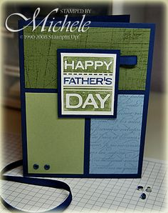 Father's Day by MicheleTX - Cards and Paper Crafts at Splitcoaststampers Masculine Birthday Cards, Birthday Cards For Men, Masculine Cards, Guy Birthday, Diy Father's Day Cards, Cute Cards, Men's Cards, Fathers Day Cards, Happy Fathers Day
