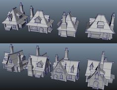 Modular WoW Style Building Variations