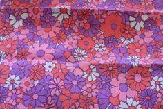 Vintage 60s Festival Flower Power Fabric