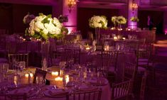 Centerpiece and Pin Spot Lighting — Phos Events Custom Lighting ...