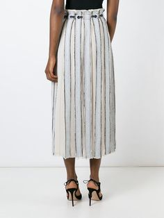 Proenza Schouler frayed stripe wrap skirt