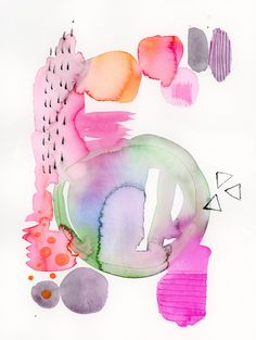 Abstract Watercolor Paiting, Abstract Art, Modern Watercolor, Original…