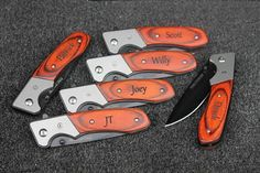 Items similar to groomsmen knives set of groomsmen gift, groomsmen engraved pocket knife, groomsmen gift knife set, groomsmen gift set of 8 groomsman gift on Etsy