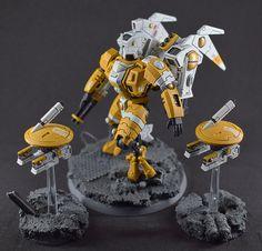 Tau Warhammer, Warhammer Figures, Warhammer Paint, Warhammer 40k Miniatures, Tau Army, Fire Warrior, Tau Empire, Vampire Art, Game Workshop