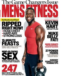"""Kevin Hart's Hard Work Pays OFF! He & That Ripped Body Are Men's Fitness Mag's New Cover Stars + Mariah Carey's Bathtub Flicks Are Nothing Short Of """"Mariah"""" 