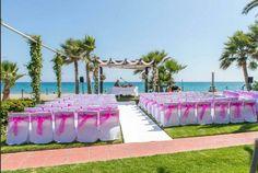 Marinas de Nerja ceremony set up  #wedding #music #nerja
