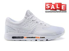 NIKE AIR MAX ZERO - CHAUSSURE MIXTE NIKE SPORTSWEAR PAS CHER (TAILLE HOMME) Blanc/Blanc 789695-010iD-1607090030-Chaussures Nike Pas Cher Magasin de France