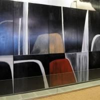 Colin McCahon Waterfall Theme and Variations Colin Mcrae, Waterfall Photo, New Zealand Art, Venice Biennale, Modern Masters, Visual Identity, Waterfalls, Figurative, Grid