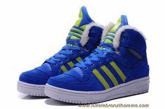Adidas X Jeremy Scott Big Tongue Anti Fur Winter Chaussures Bleu En Ligne
