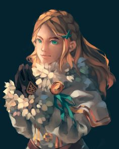 Guess what, I still know how to paint! It's Zelda in the fluffy clothes :) by take-it-to-art Princesa Zelda, Botw Zelda, Gothic, Evil Demons, Adventure Outfit, Link Art, Link Zelda, Female Characters, Fictional Characters