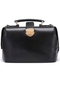 Black Pockets Cotton Lining PU Leather Tote