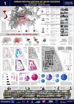 Premiados – Concurso Mass Housing – UN Habitat Site Analysis Architecture, Architecture Site Plan, Architecture Presentation Board, Architecture Panel, Landscape Architecture Design, Architecture Graphics, Architecture Portfolio, Futuristic Architecture, Project Presentation
