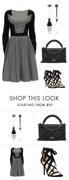 Winter Style by dearmissj on Polyvore featuring Lattori, Nine West, Chanel, earrings and Earring
